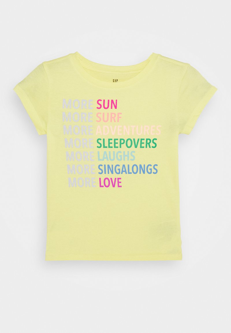 GAP - GIRLS - T-shirt print - yellow sun