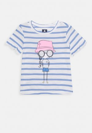 TODDLER GIRL - Triko s potiskem - white/blue