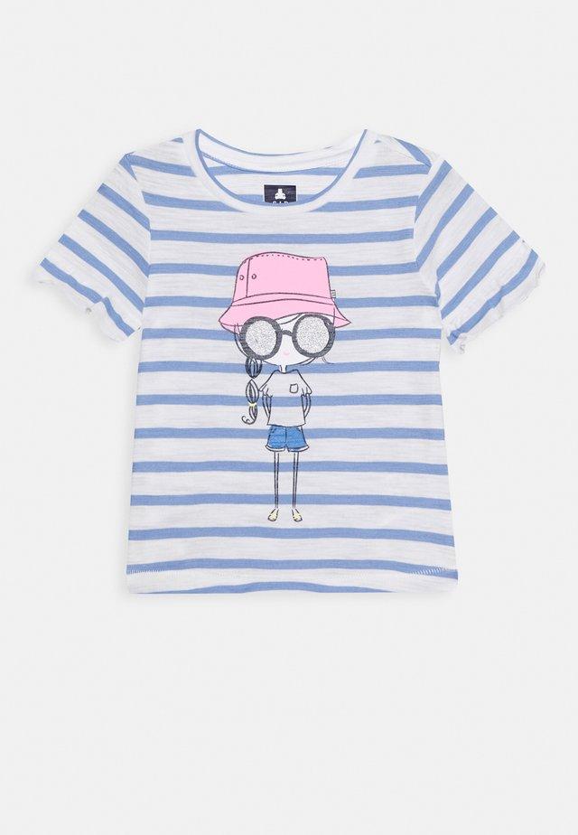 TODDLER GIRL - T-shirt con stampa - white/blue