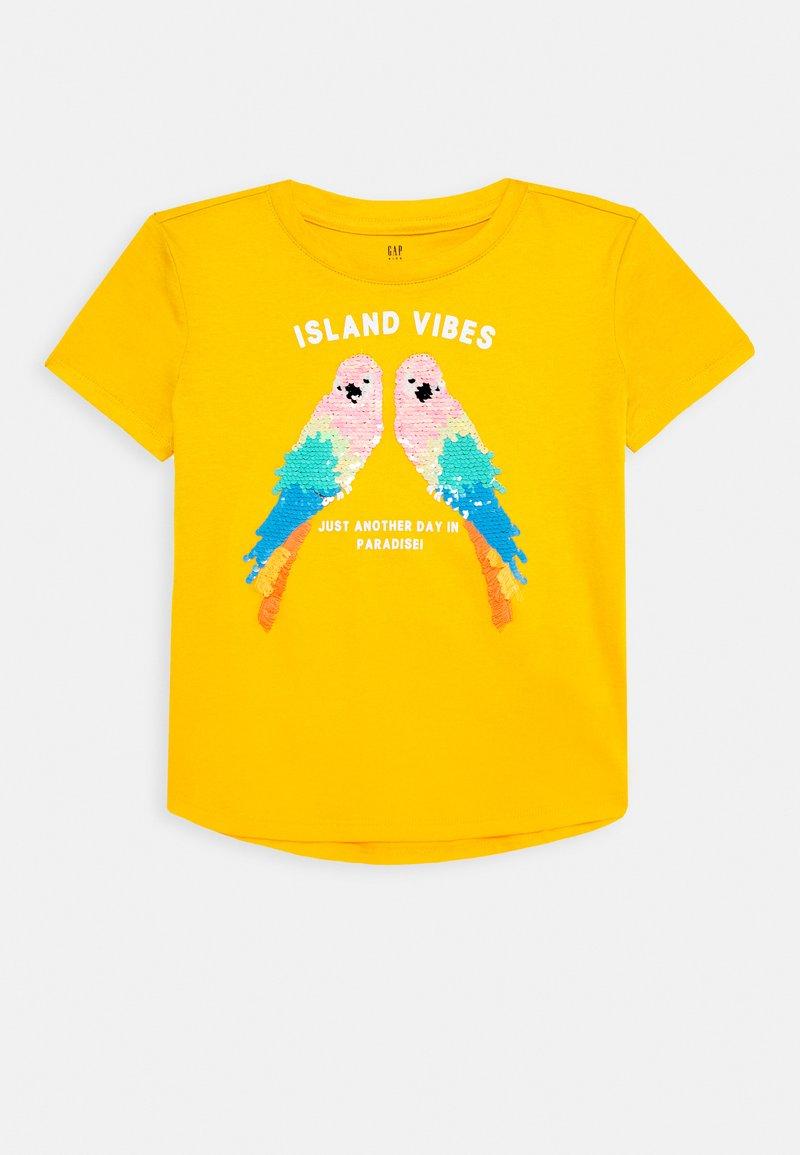 GAP - GIRL - T-shirt print - yellow sundown