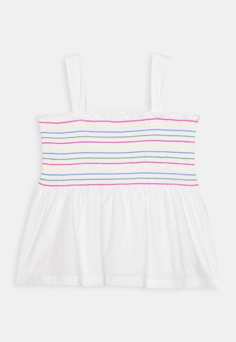 GAP - GIRL SMOCKED TANK - Print T-shirt - new off white
