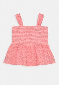 GAP - GIRL SMOCKED TANK - Print T-shirt - satiny pink - 0
