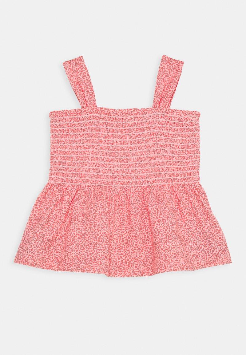 GAP - GIRL SMOCKED TANK - Print T-shirt - satiny pink