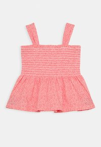 GAP - GIRL SMOCKED TANK - Print T-shirt - satiny pink