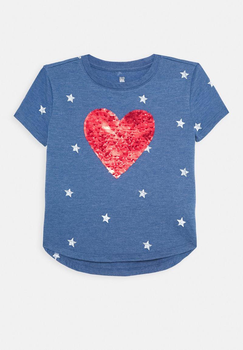 GAP - GIRL - T-shirt imprimé - blue