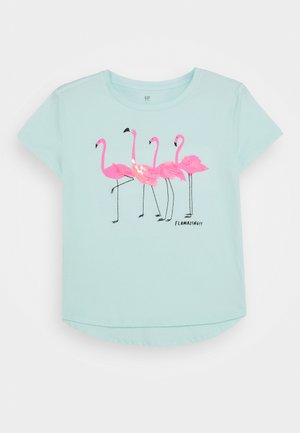 GIRL - T-shirt med print - soft jade