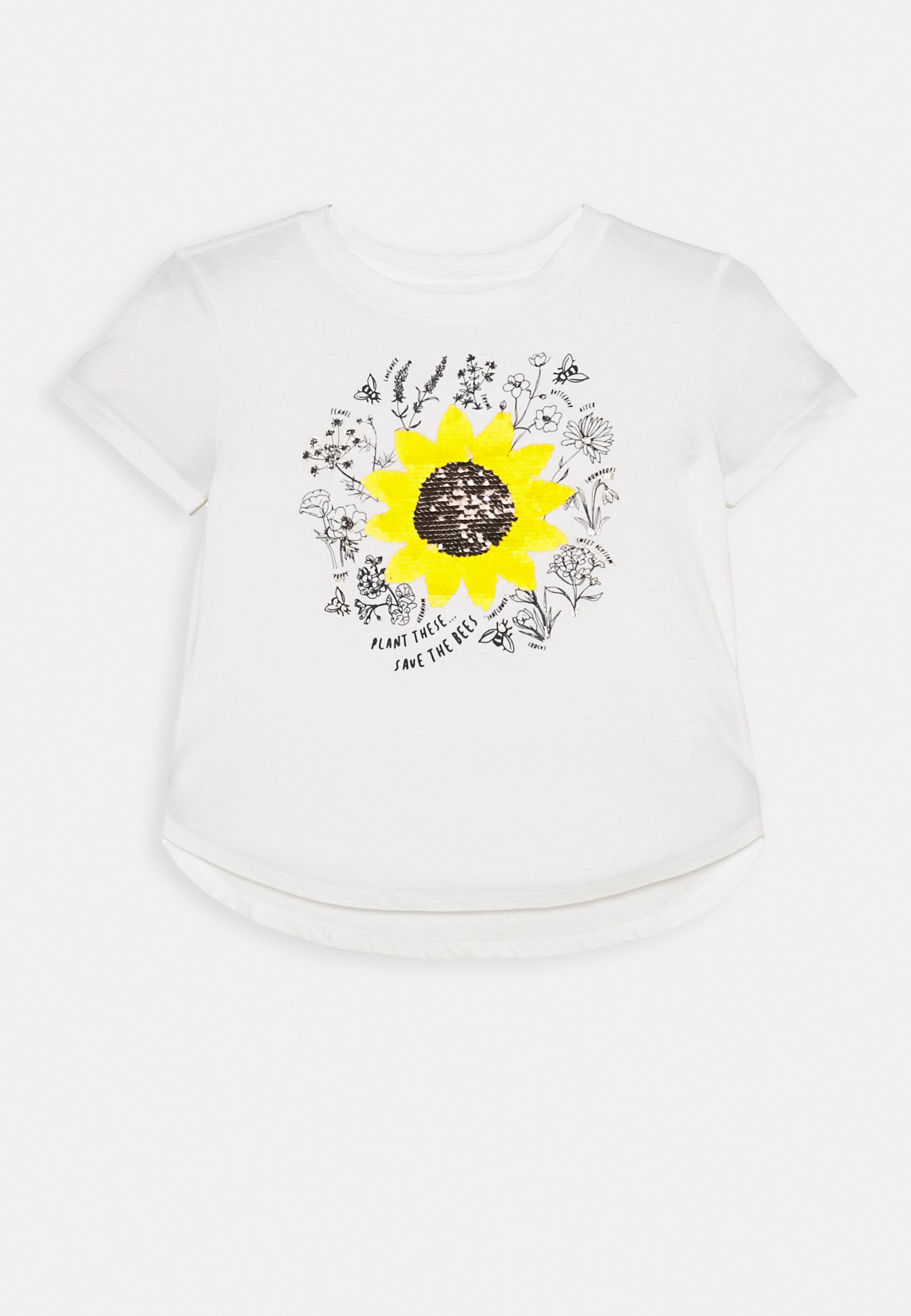GAP GIRL T shirt imprimé off white ZALANDO.FR