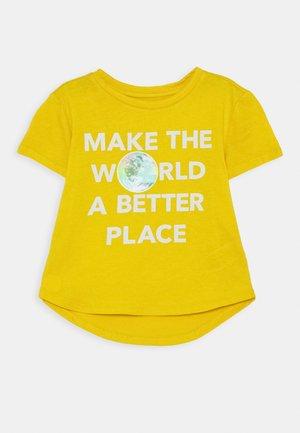 GIRL  - T-shirt print - rainslicker yellow