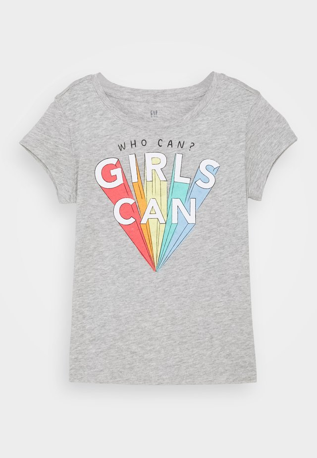 GIRLS - Print T-shirt - light heather grey