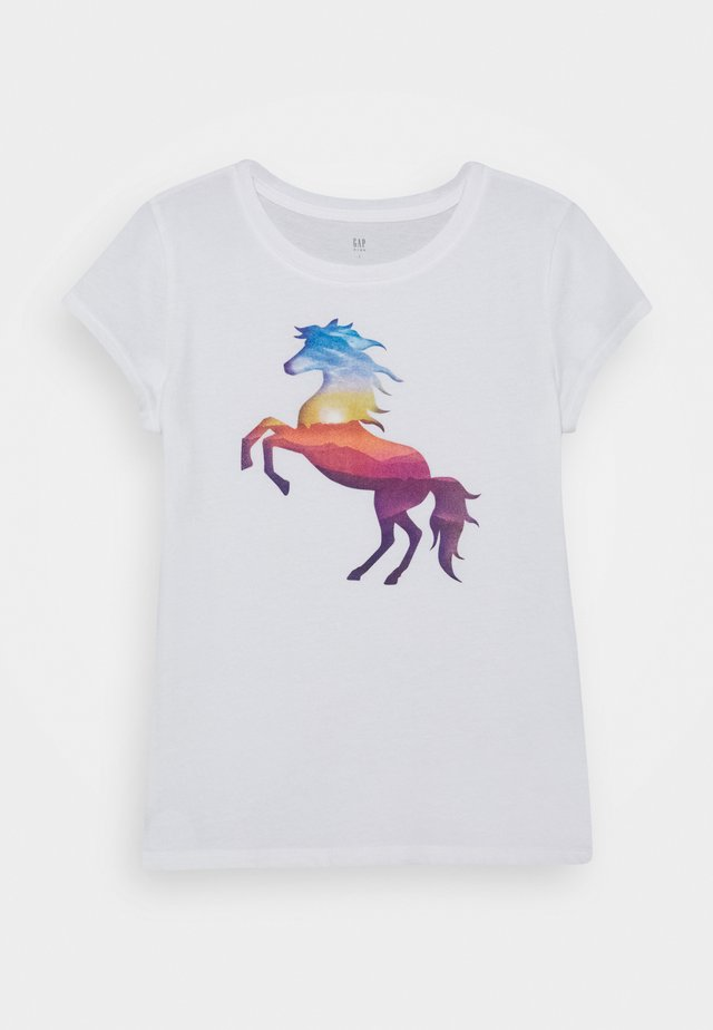 GIRLS - Print T-shirt - new off white