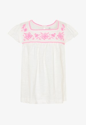 TODDLER GIRL SQUARE - Camiseta estampada - new offwhite