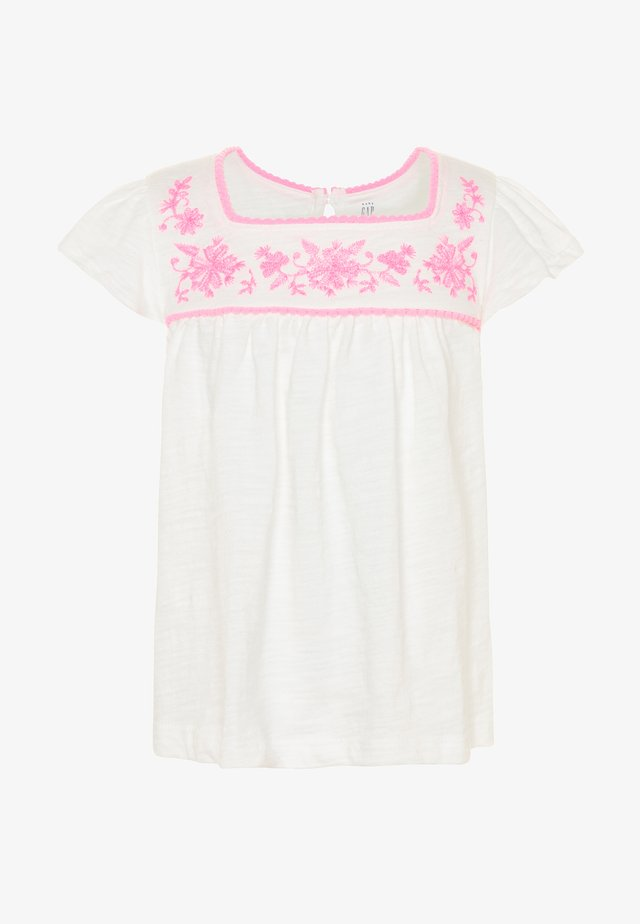 TODDLER GIRL SQUARE - T-Shirt print - new offwhite