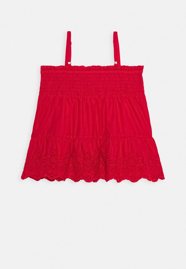 GIRL EYELET - Top - pure red