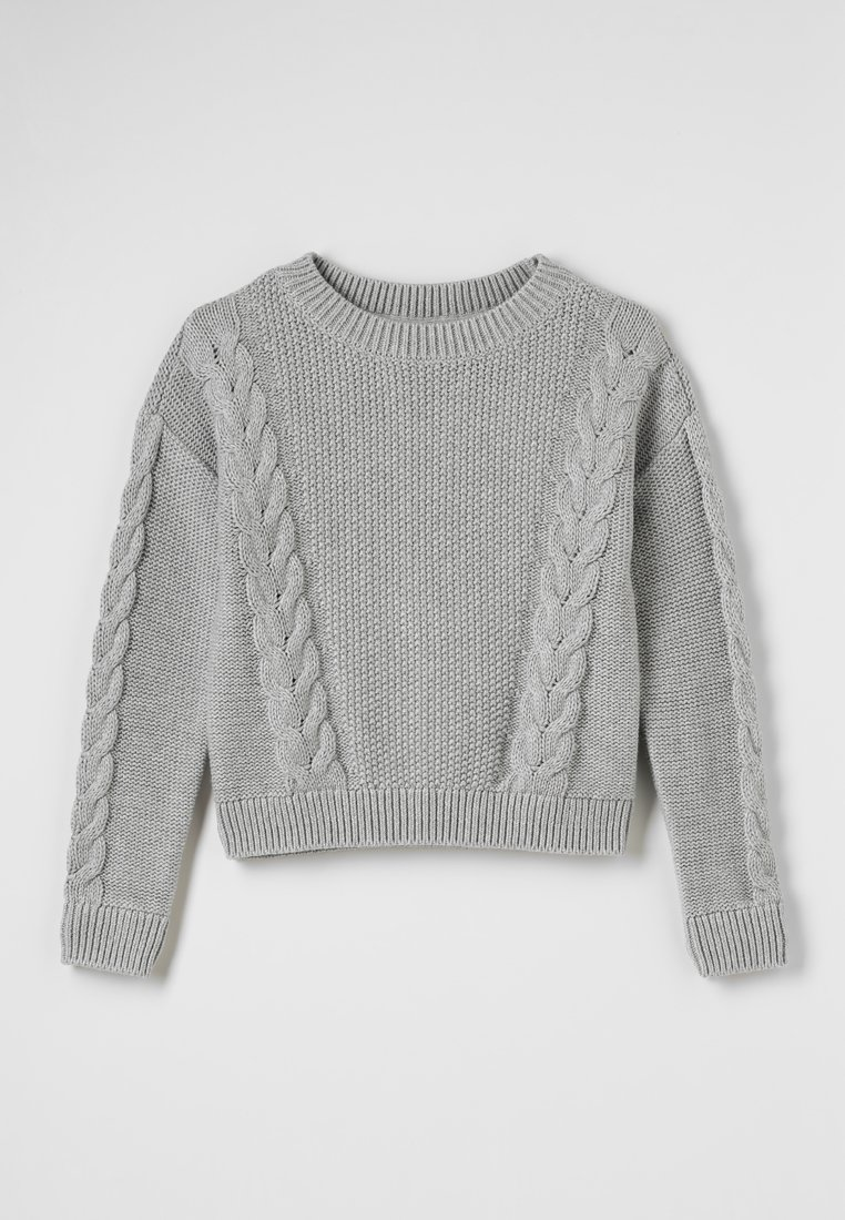 GAP - GIRLS CABLE - Strickpullover - light heather grey