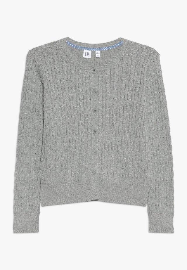 GIRLS UNI CABLE CARDI - Strickjacke - grey heather