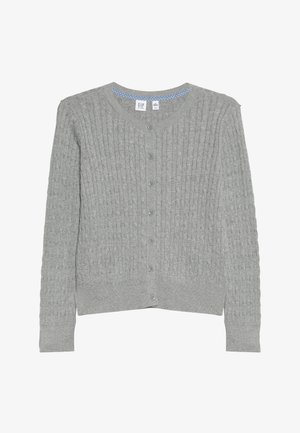 GIRLS UNI CABLE CARDI - Kofta - grey heather