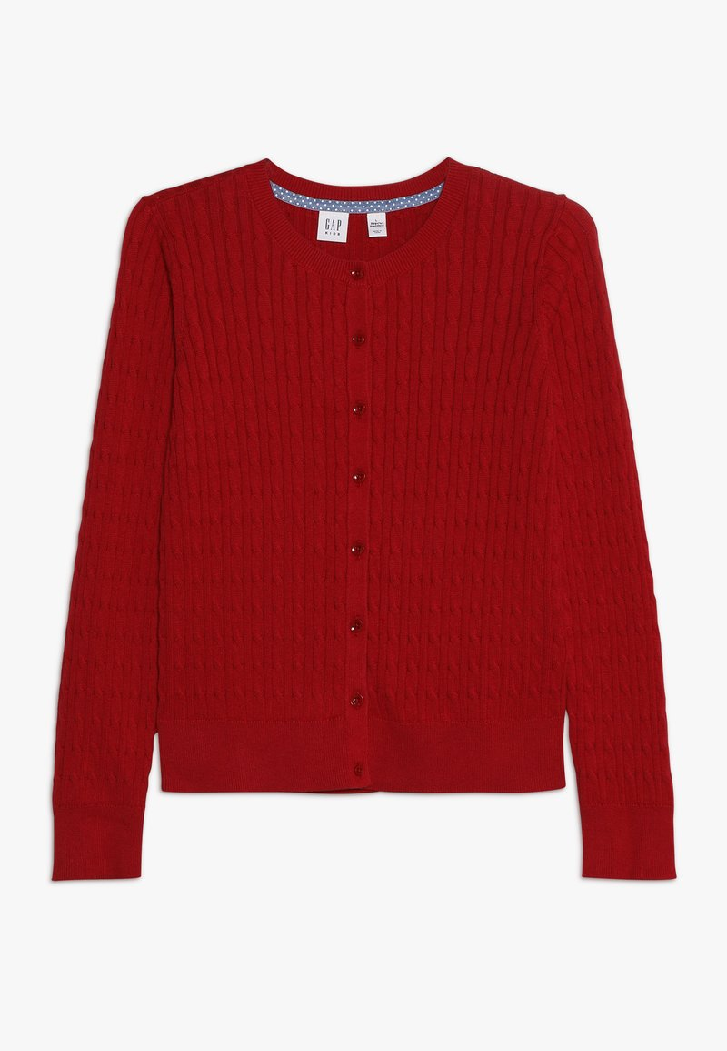 GAP - GIRLS UNI CABLE CARDI - Strickjacke - ruby red