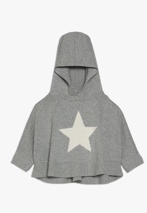 TODDLER GIRL PONCHO - Jersey con capucha - grey heather