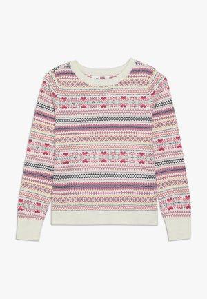 GIRL ISLE  - Stickad tröja - ivory frost