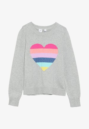 GIRL HEART  - Trui - grey heather