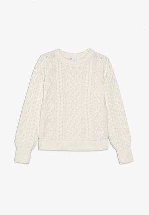 GIRL - Stickad tröja - ivory frost