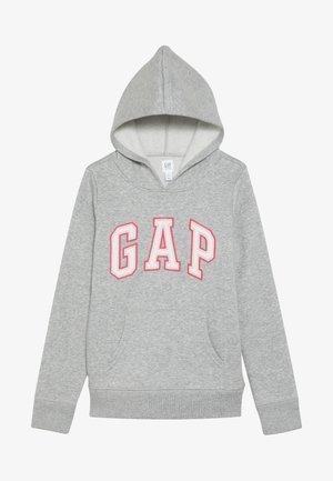 GIRLS ACTIVE LOGO HOOD - Huppari - heather grey