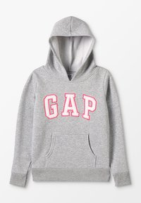 GAP - GIRLS ACTIVE LOGO HOOD - Jersey con capucha - heather grey - 0