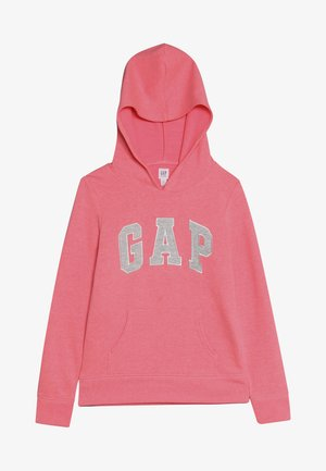 GIRLS ACTIVE LOGO HOOD - Felpa con cappuccio - neon light pink