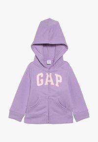 GAP - TODDLER GIRL LOGO - Zip-up hoodie - purple - 0