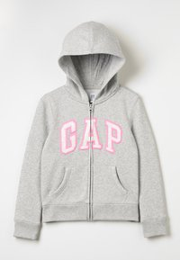 GAP - GIRLS ACTIVE LOGO - Felpa aperta - heather grey - 0