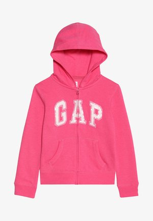 GIRLS ACTIVE LOGO - veste en sweat zippée - pink jubilee