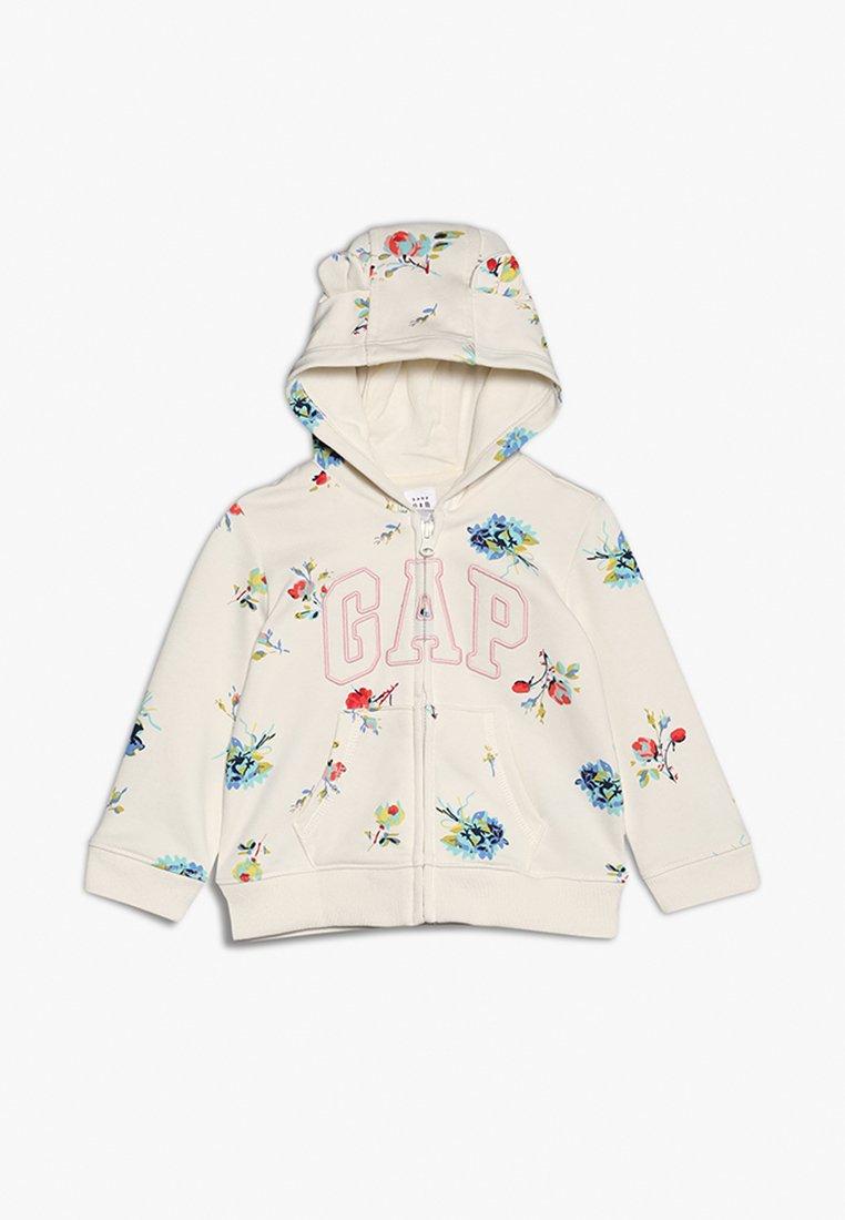 GAP - ARCH HOOD BABY - Hoodie met rits - ivory frost