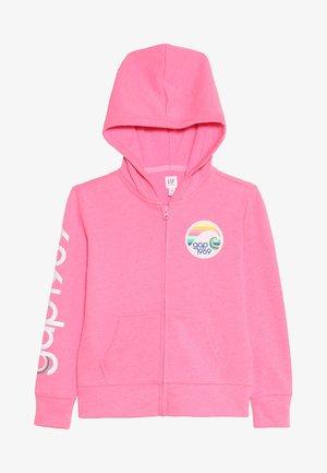 GIRLS - Zip-up hoodie - neon malibu pink