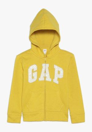 GIRLS LOGO  - Zip-up hoodie - rainslicker yellow