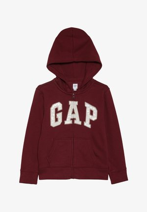 GIRLS LOGO  - Zip-up hoodie - light rosewood