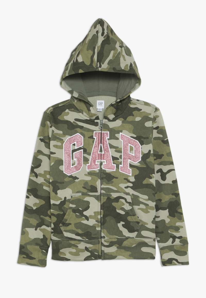 GAP - GIRLS LOGO  - Huvtröja med dragkedja - twig