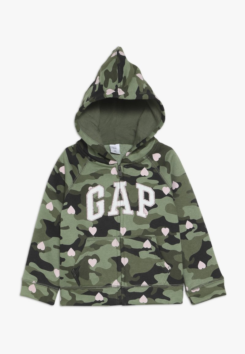 GAP - TODDLER GIRL LOGO  - Huvtröja med dragkedja - green