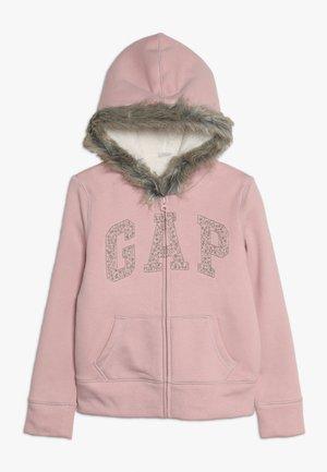 GIRL LOGO COZY  - Huvtröja med dragkedja - pink standard