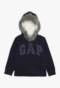 GAP - GIRL LOGO COZY  - Zip-up hoodie - navy uniform - 0