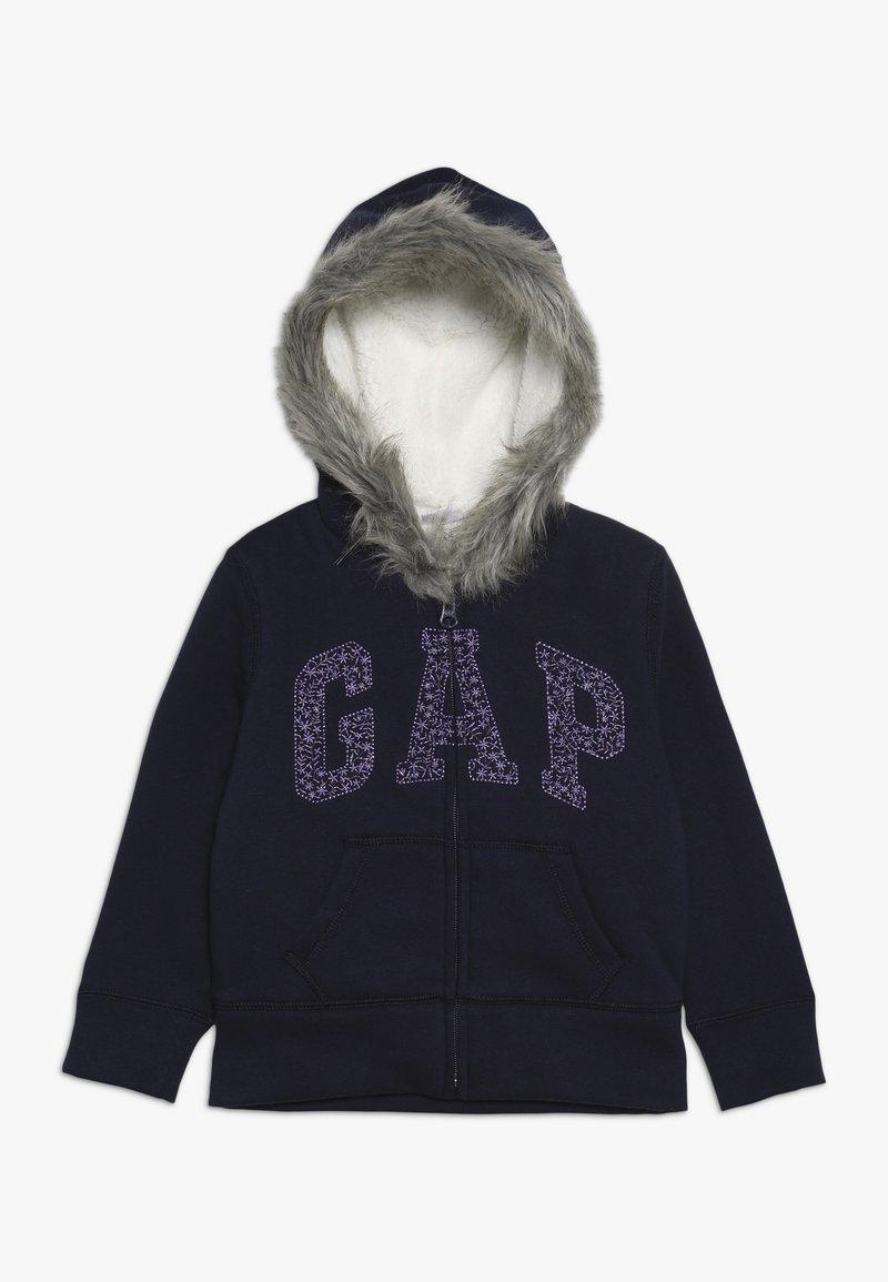 GAP - GIRL LOGO COZY  - Zip-up hoodie - navy uniform