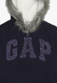 GAP - GIRL LOGO COZY  - Zip-up hoodie - navy uniform - 3