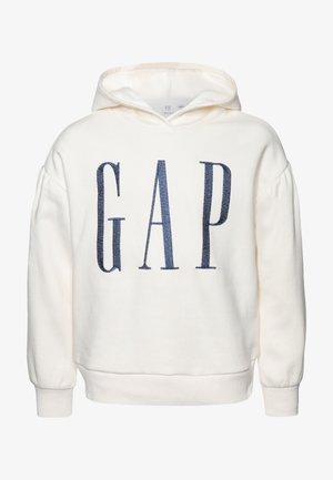 GIRL LOGO  - Jersey con capucha - ivory frost