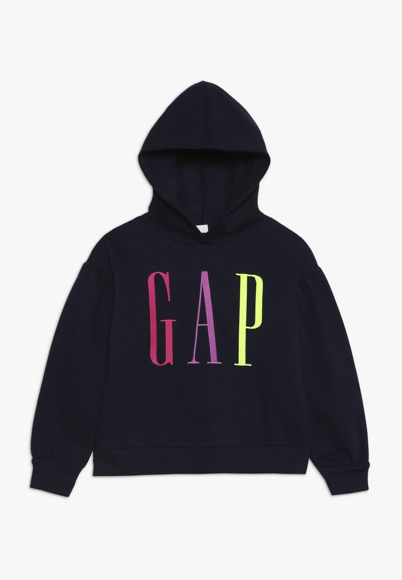 GAP - GIRL LOGO  - Mikina s kapucí - navy uniform