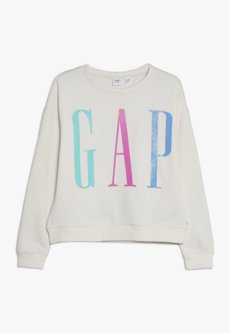 GAP - GIRL ELONG LOGO - Sweatshirt - ivory frost