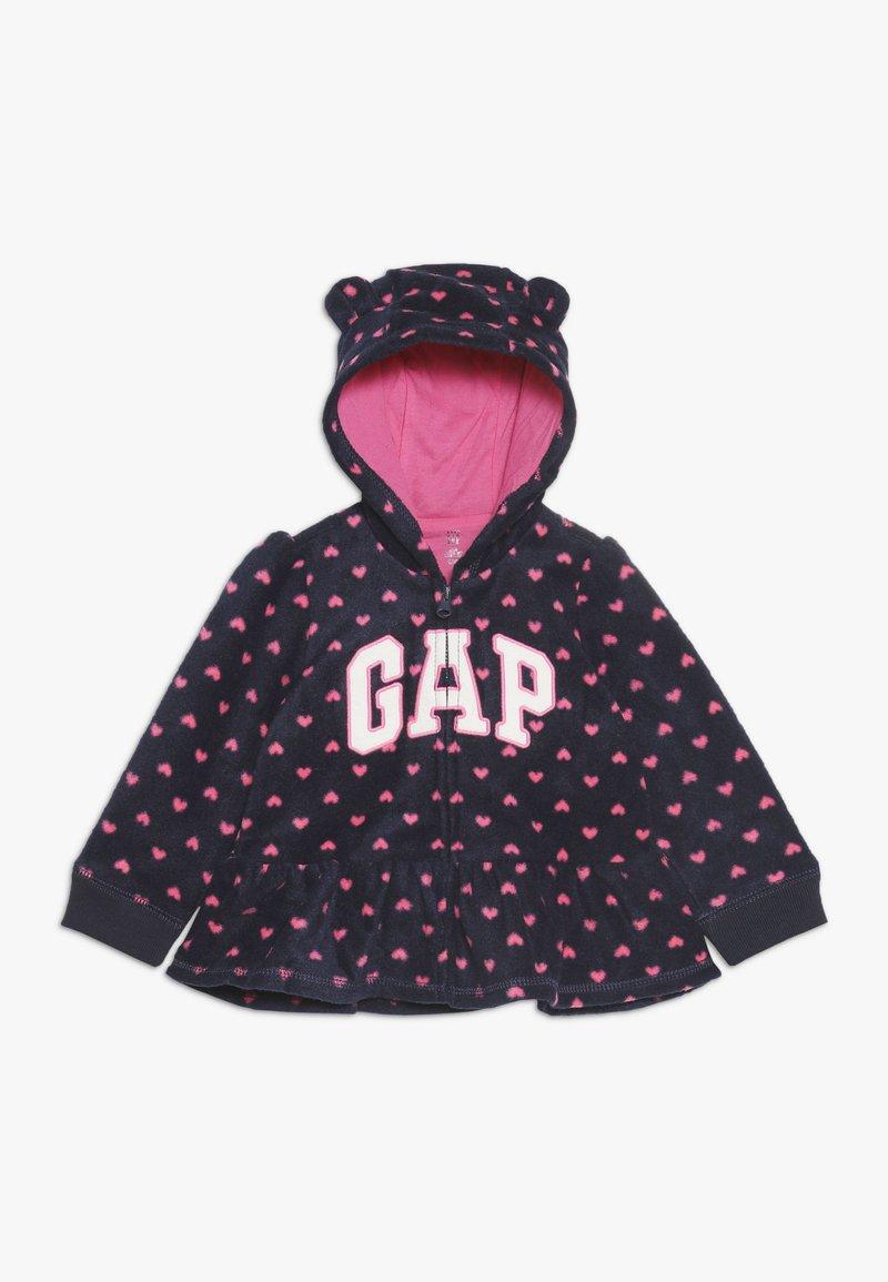 GAP - ARCH HOOD BABY - Forro polar - navy uniform