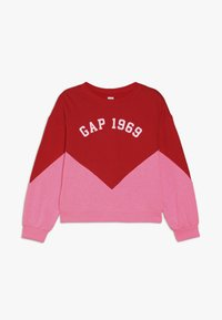 GAP - GIRL FAMILY LOGO CREW - Mikina - pure red - 0
