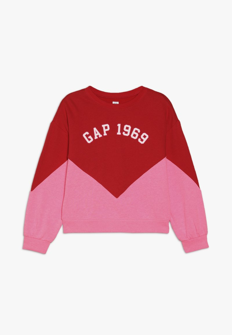 GAP - GIRL FAMILY LOGO CREW - Mikina - pure red