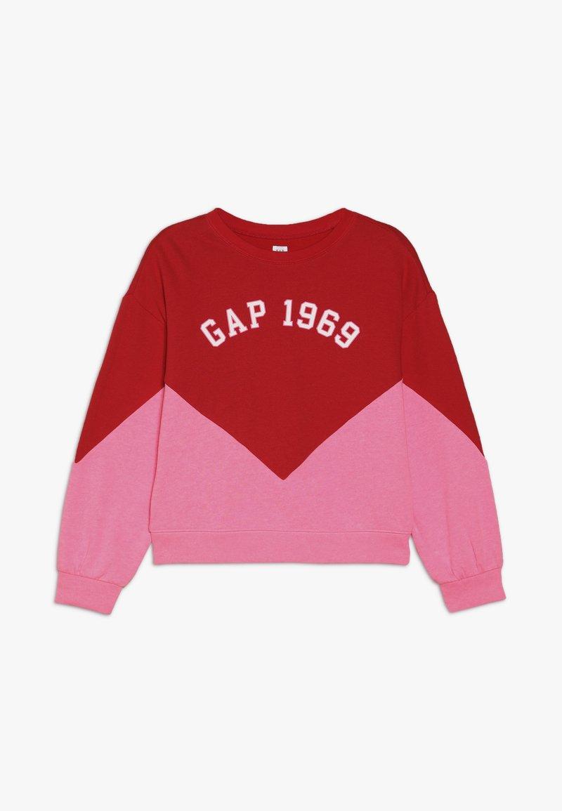 GAP - GIRL FAMILY LOGO CREW - Sweatshirt - pure red