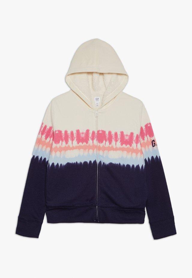 GIRL COZY - Zip-up hoodie - blue tie dye