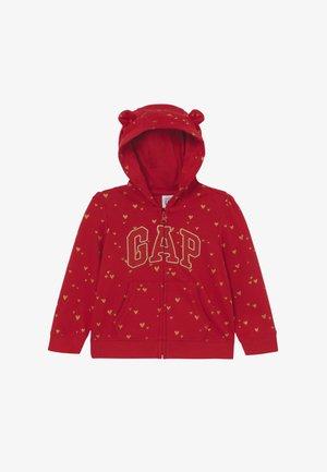 ARCH HOODY BABY - Mikina na zip - modern red